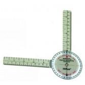 Goniometr plastikowy – 21,6 cm (360st)